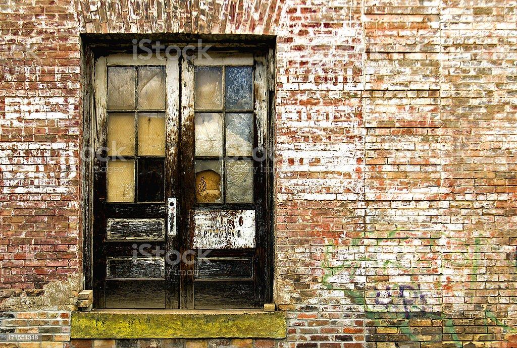 Abandoned Door stock photo