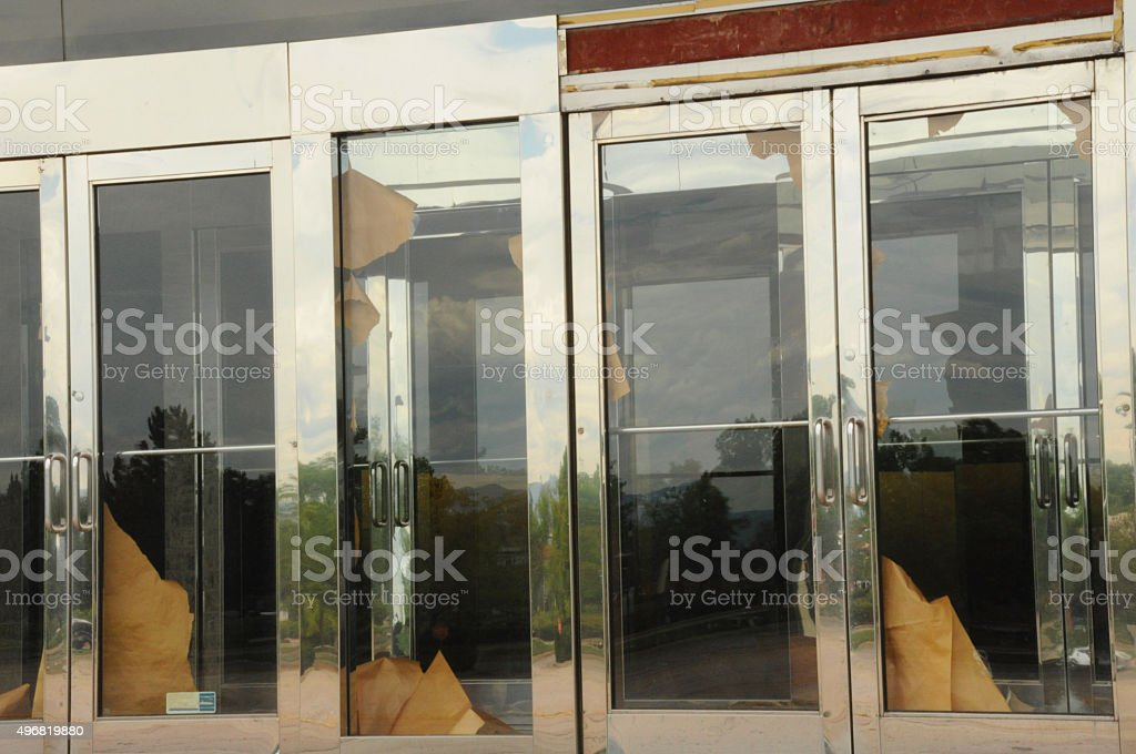 Abandoned doors stock photo