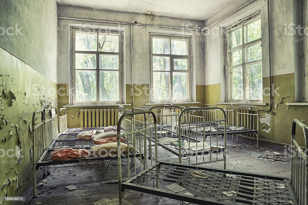 Abandoned Dorm stock photo