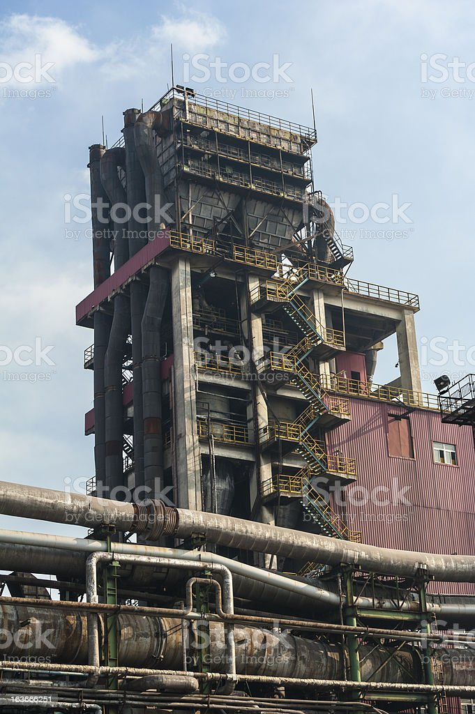 Abandoned equipments of steel works royalty-free stock photo