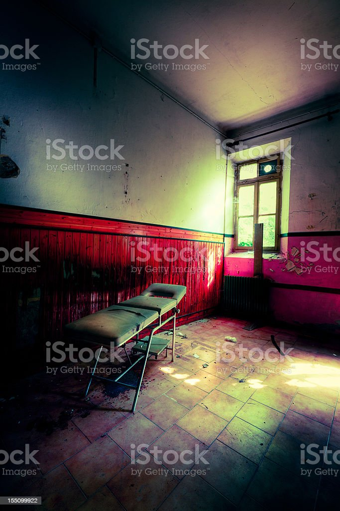 Abandoned examination room royalty-free stock photo