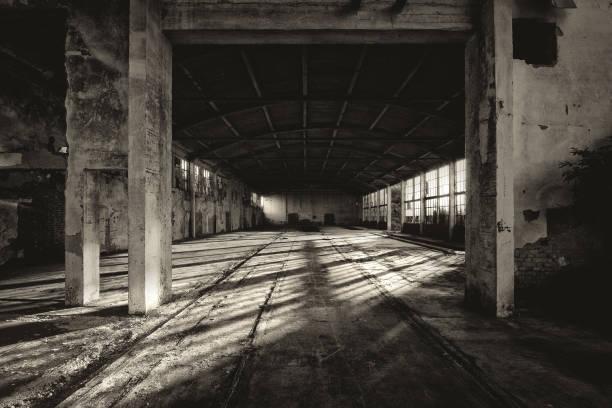 abandoned factory building - город призрак стоковые фото и изображения