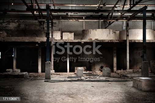 istock Abandoned factory hall 171106971