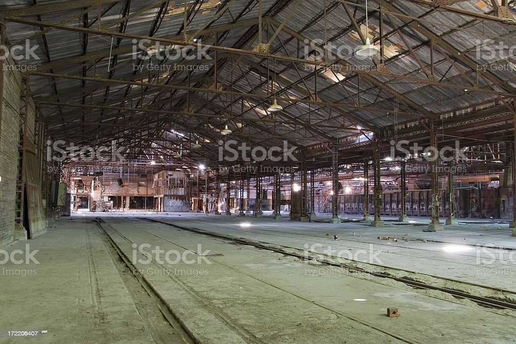 Abandoned factory late 1800s stock photo