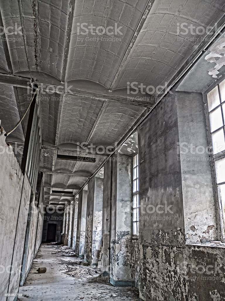 Fabrica abandonada royalty-free stock photo