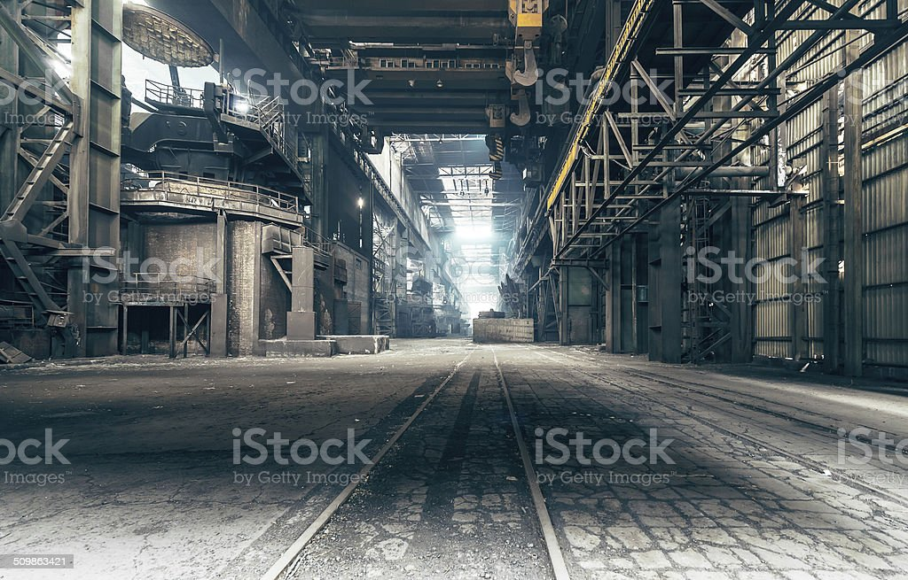 Abandoned factory stock photo