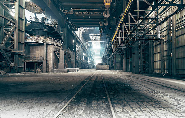 Abandoned factory A factory that been shut down for many years. derelict stock pictures, royalty-free photos & images