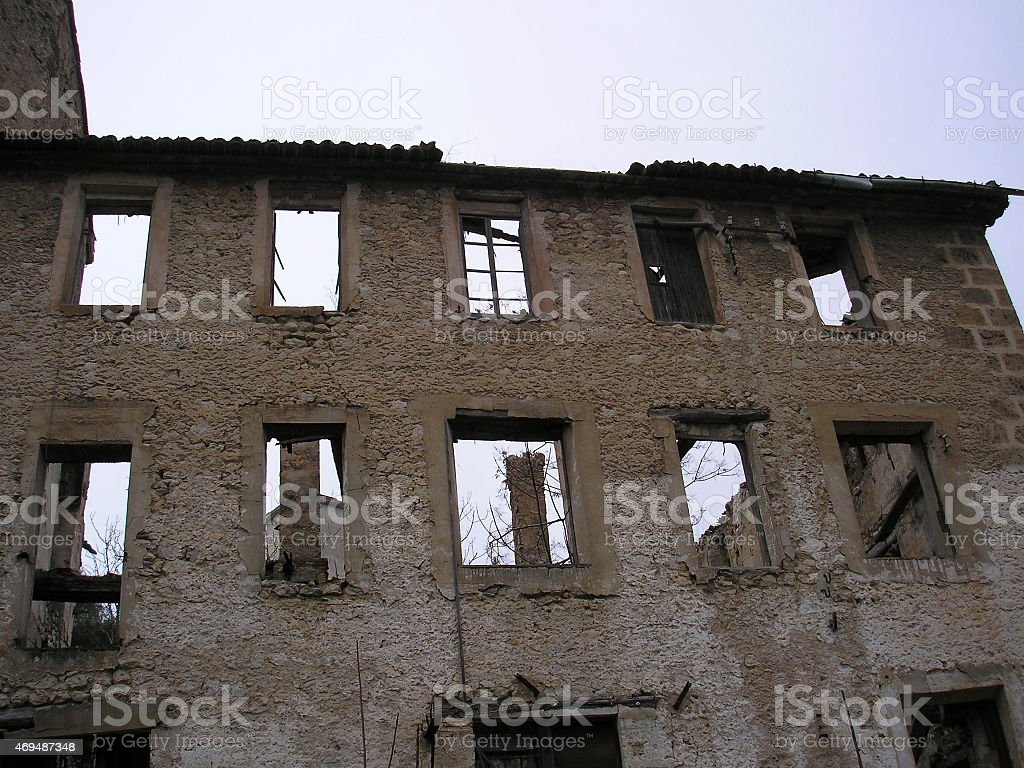 abandoned factory, ruins, terror, poltergeist, EVP, ruins, spain stock photo