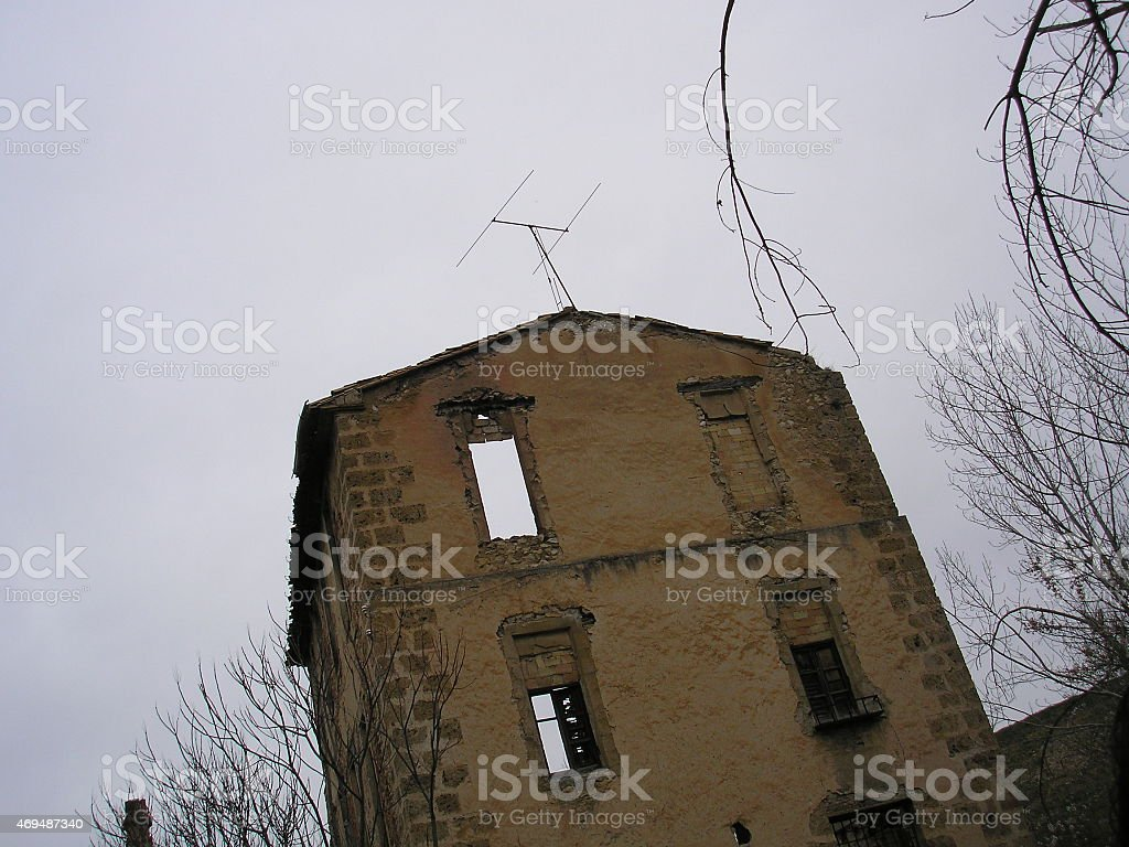 abandoned factory, ruins, terror, poltergeist, EVP, spain stock photo