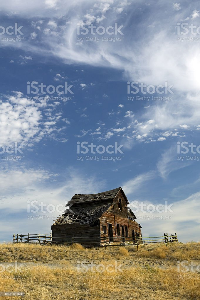 Abandoned Farm House stock photo