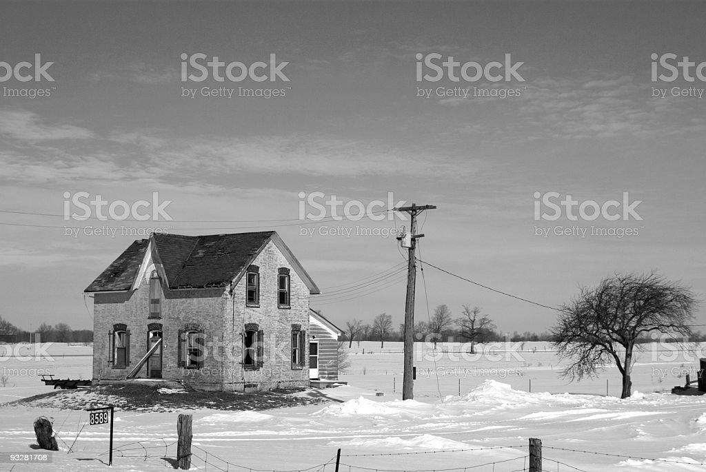 Abandonado casa da fazenda - foto de acervo