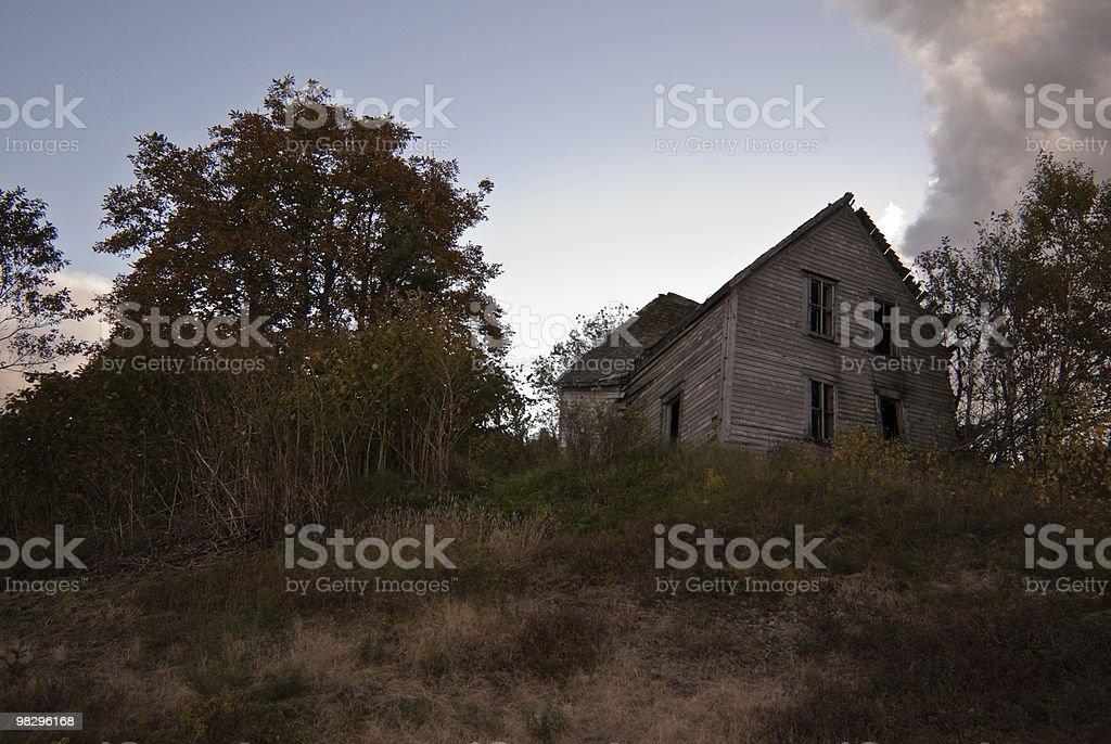 포기됨 농장 하우스 royalty-free 스톡 사진