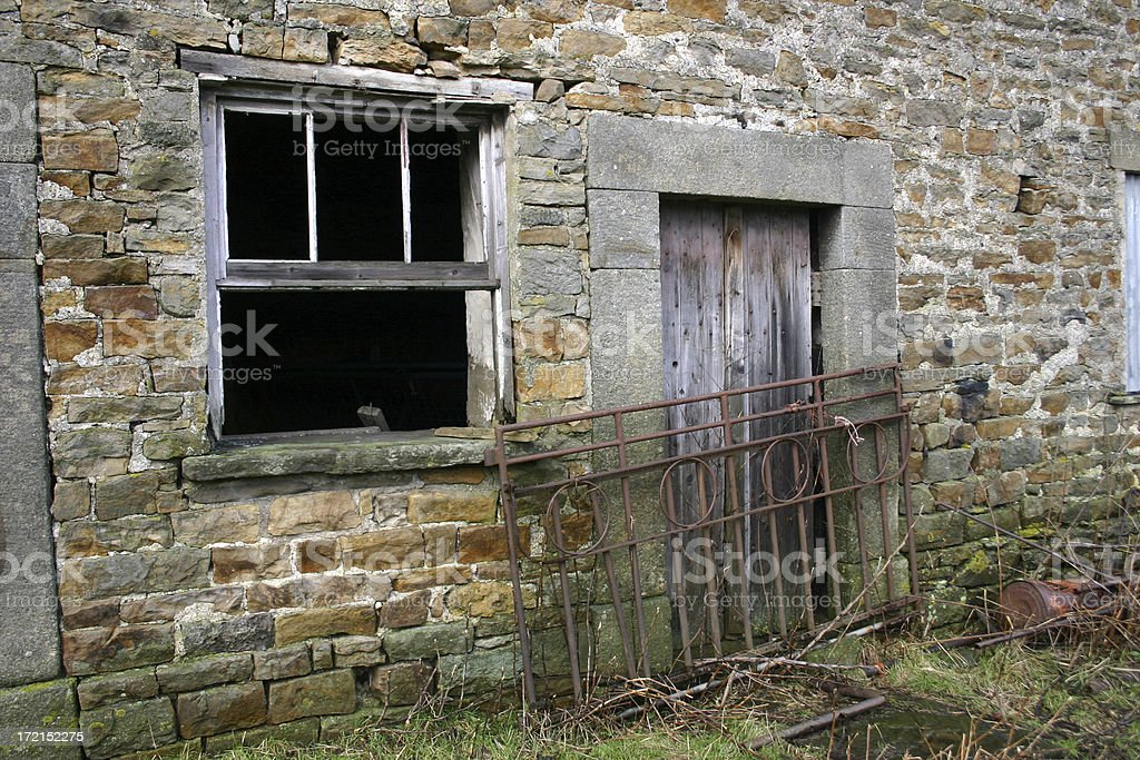 abandoned farm house, Yorkshire, England royalty-free stock photo