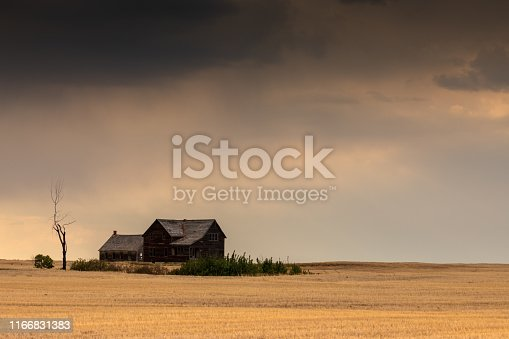 Abandoned Farm in the Prairie of Canada