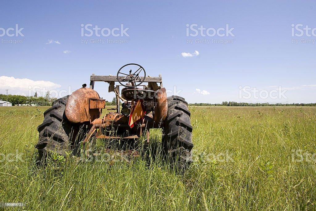 Abandoned Farm Tractor. royalty-free stock photo
