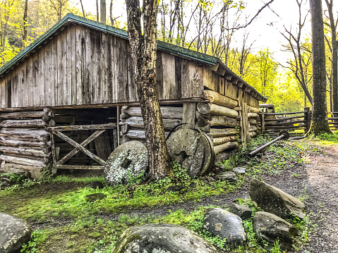 The Appalachia mountains are full of many scenic locations. An abandoned farm sits in this National park as a reminder of days gone by.