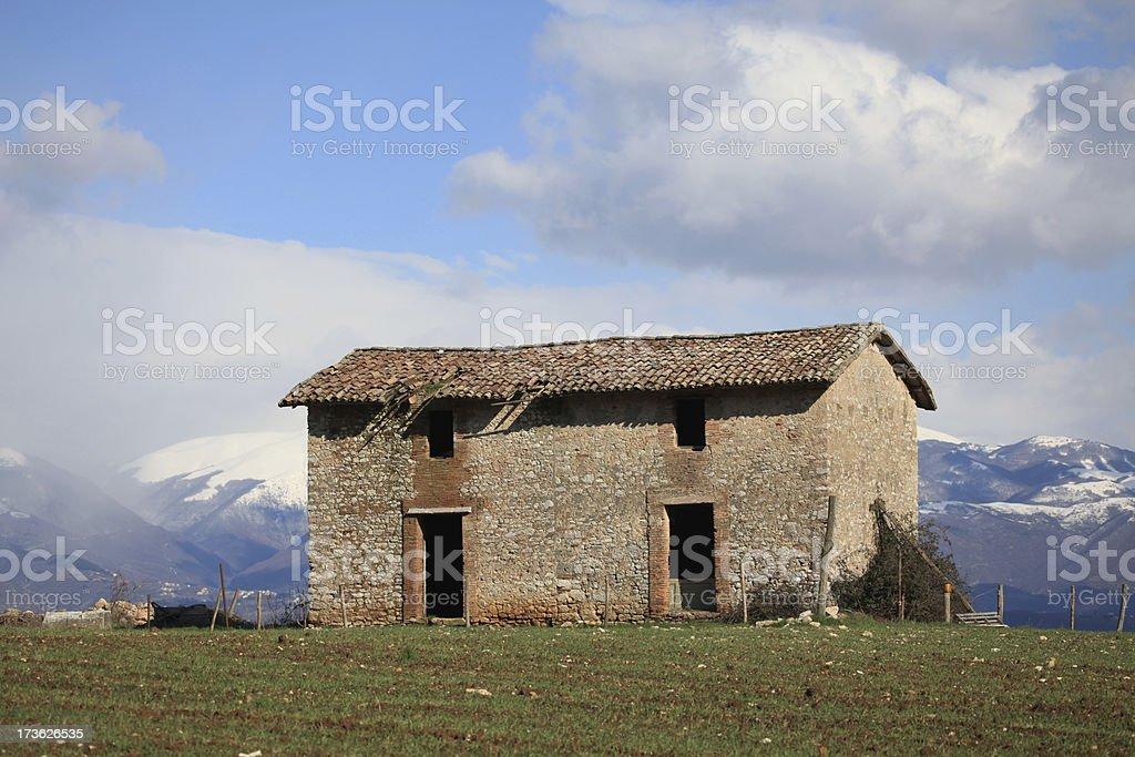 Abandoned farmhouse in Lazio royalty-free stock photo