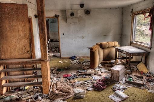 Abandoned Farmhouse in Rural South Dakota in Early Fall