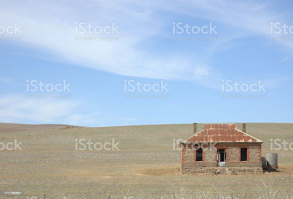 Abandoned farmhouse in South Australia royalty-free stock photo