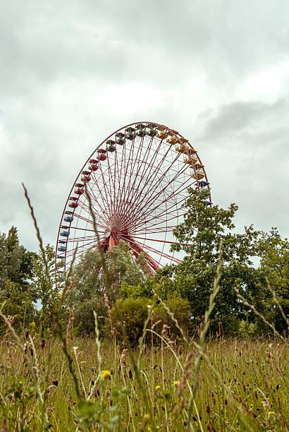 Abandoned Ferris Wheel stock photo