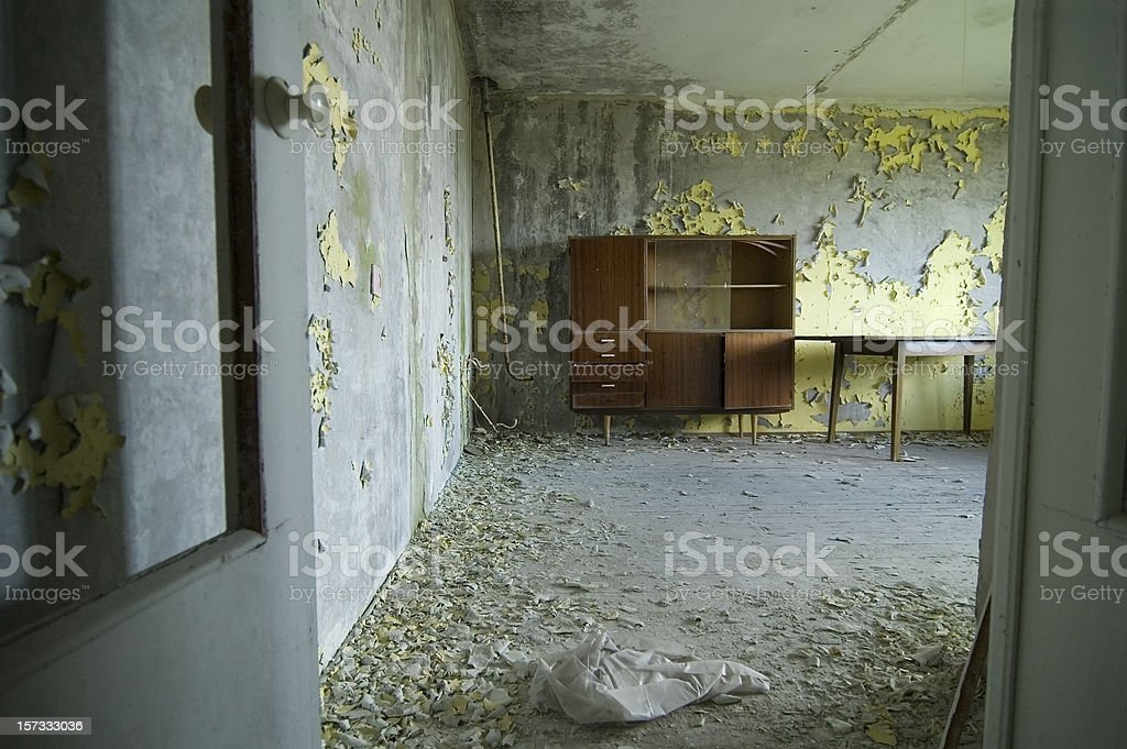 abandoned flat in one of Chernobyl apartment house royalty-free stock photo
