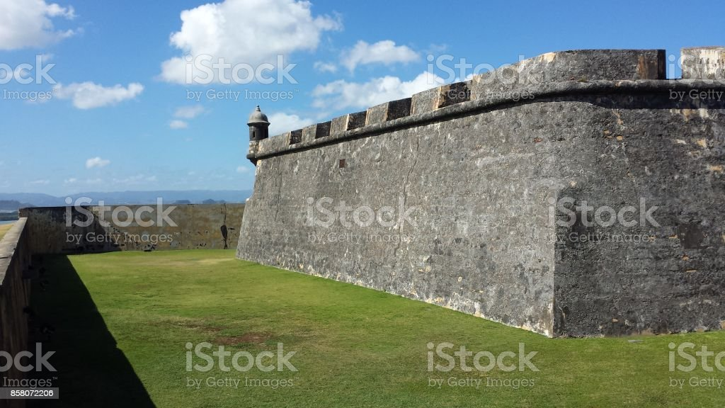Abandoned Fortress in Puerto Rico stock photo