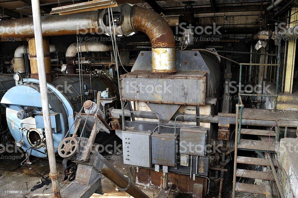 Abandoned Furnace stock photo