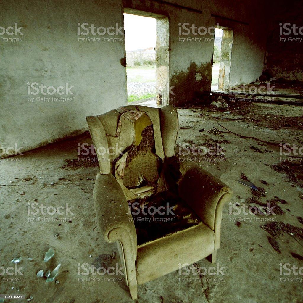 abandoned furniture royalty-free stock photo