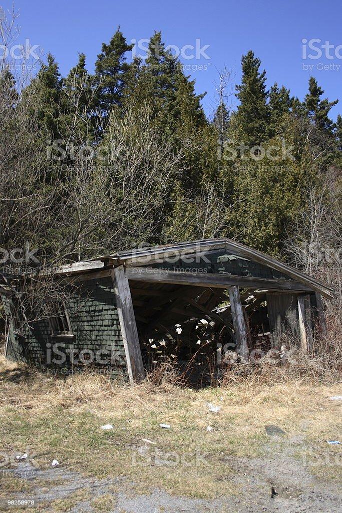 abandoned garage royalty-free stock photo