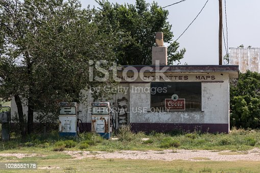 Route66, August 2, an ​Abandoned gas station on Rout66. Somewhere between between Chicago and Los Angeles