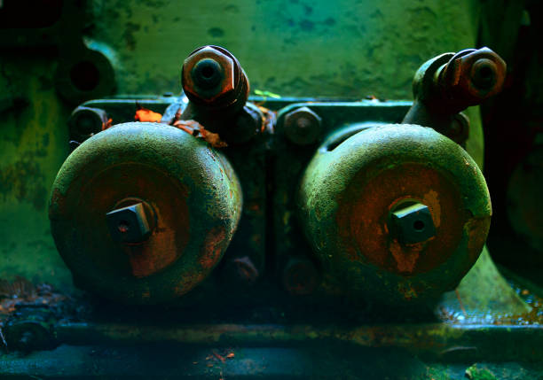 Abandoned Generator Study 5 stock photo