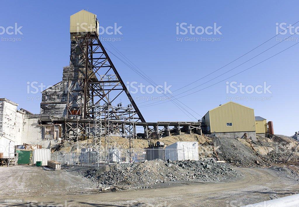 Abandoned Gold Mine, Yellowknife, Northwest Territories. stock photo