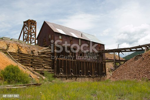 Abandoned gold mining operations turned into monuments near Goldfield and Victor in the southern Pike National Forest mountains