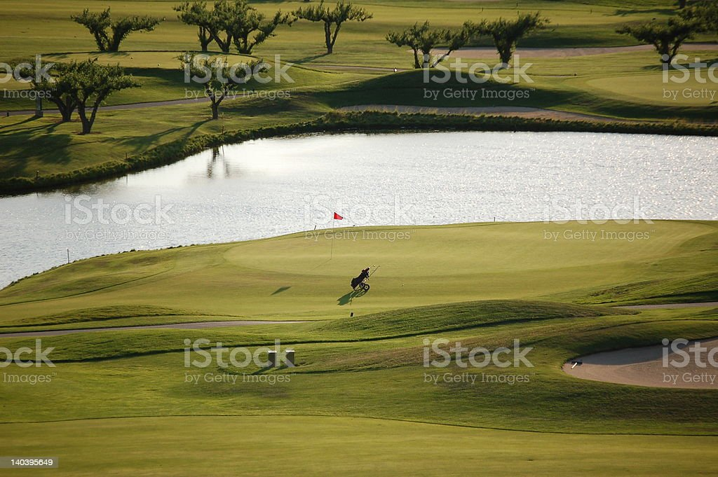 Abandoned Golf Green royalty-free stock photo