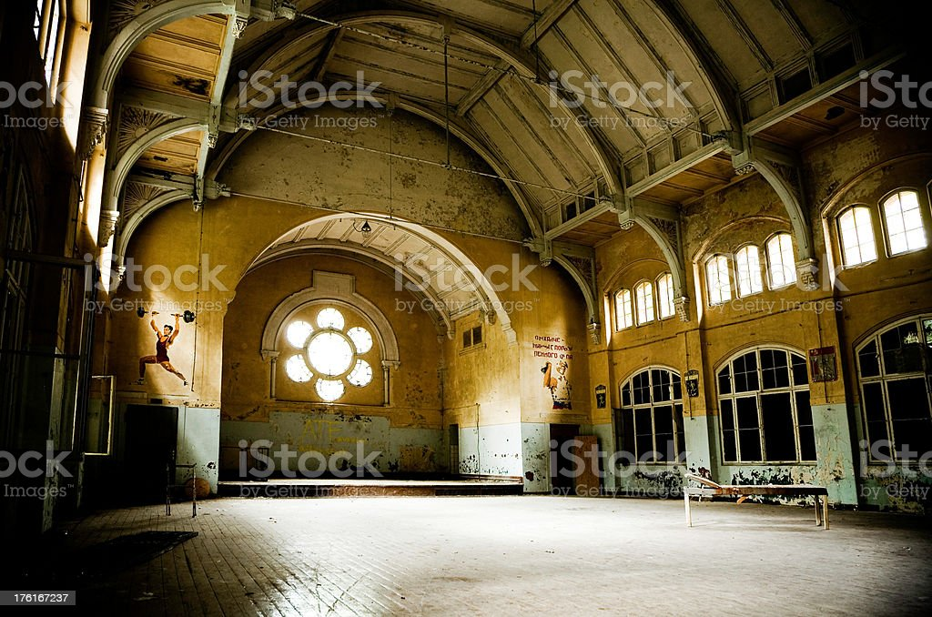 abandoned gym royalty-free stock photo