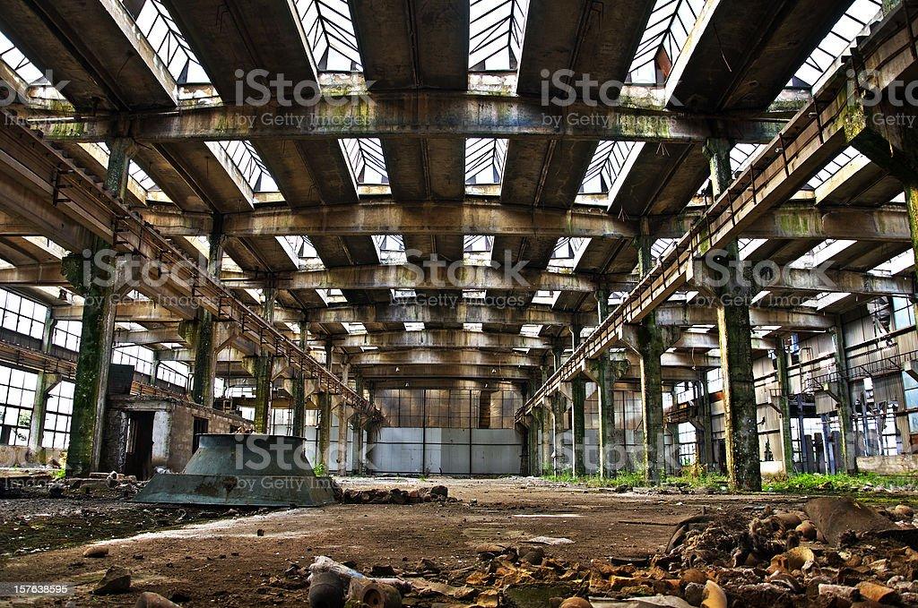 Abandoned Hall royalty-free stock photo