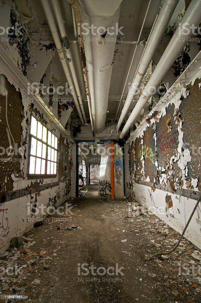 Abandoned Hallway royalty-free stock photo