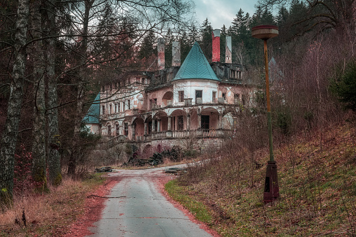 Abandoned health spa resort near the village of Rajecke Teplice