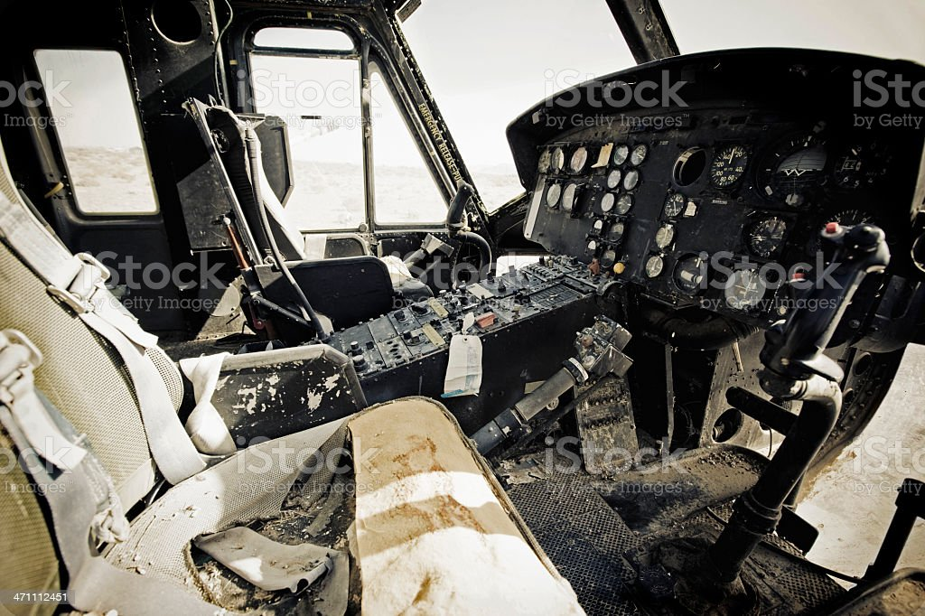 Abandoned Helicopter Wreck royalty-free stock photo