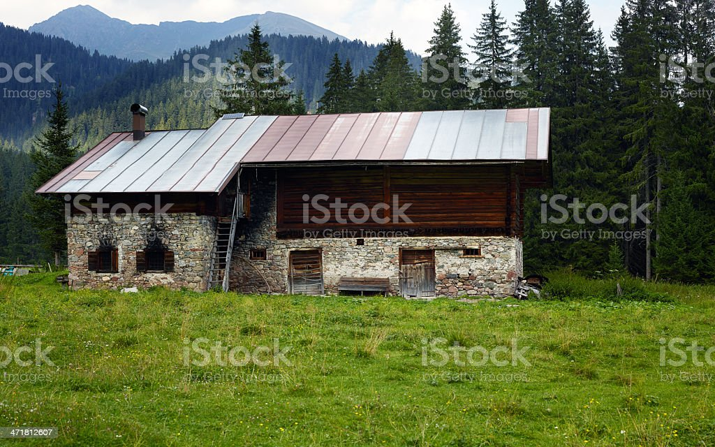 Abandoned Home. Color Image royalty-free stock photo
