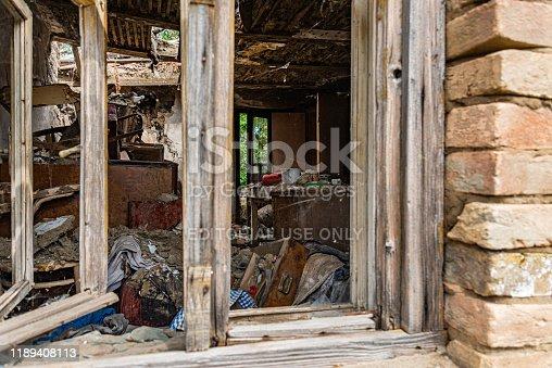 1164292968 istock photo Abandoned home. Damaged house after earthquake. 1189408113
