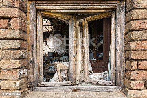 1164292968 istock photo Abandoned home. Damaged house after earthquake. 1189415644