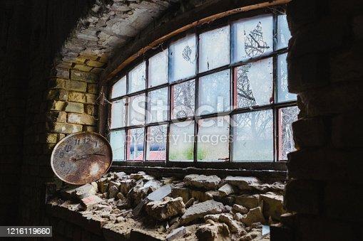 1164292968 istock photo Abandoned home. Damaged house 1216119660