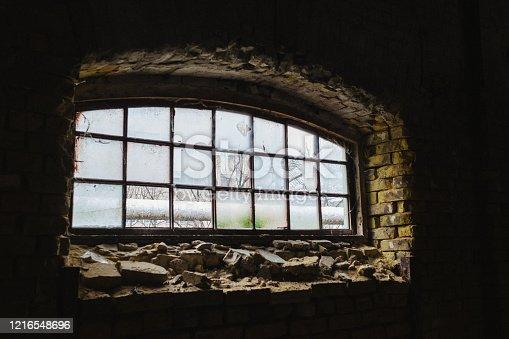1164292968 istock photo Abandoned home. Damaged house 1216548696