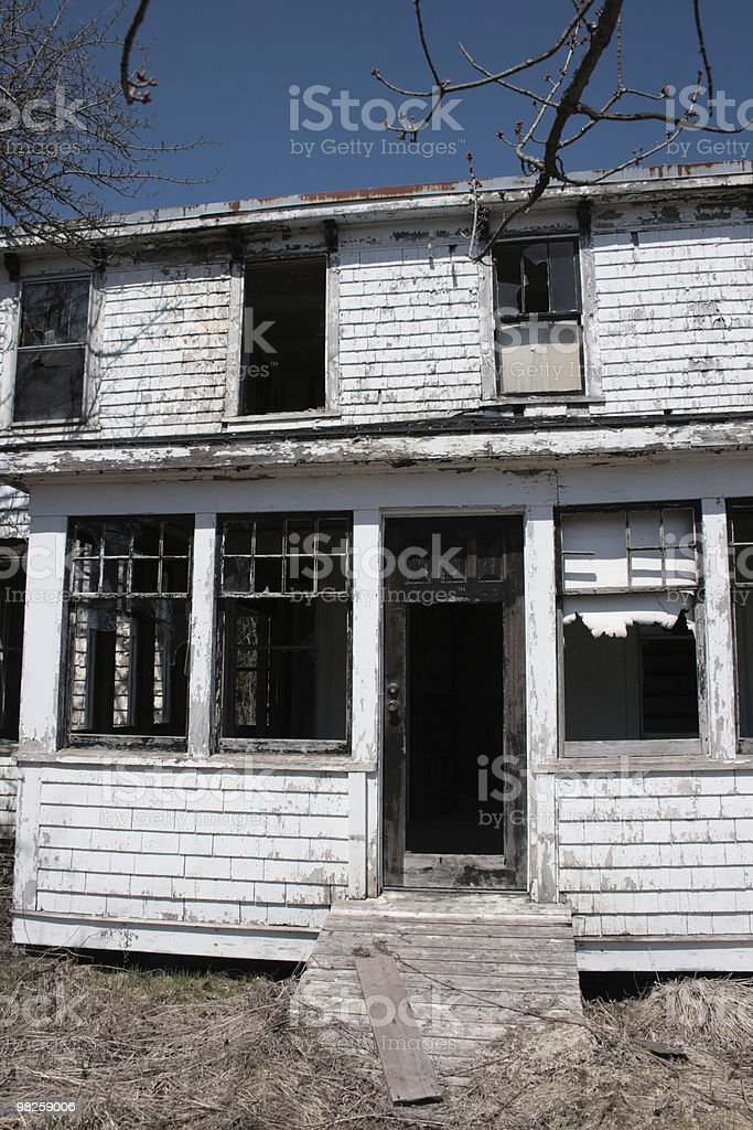 abandoned home - entry royalty-free stock photo