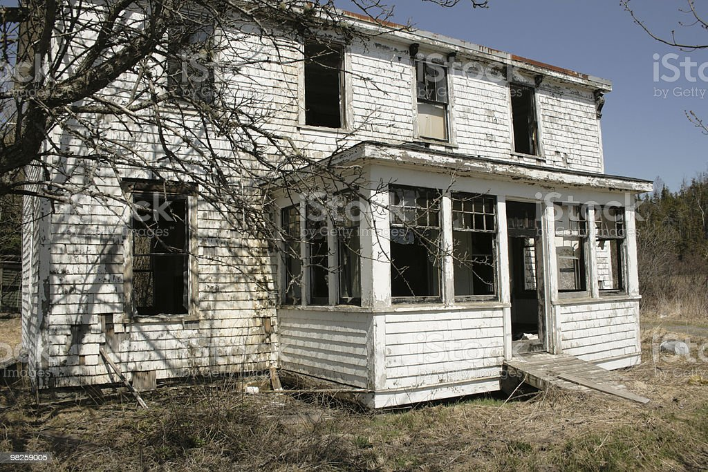 Abandoned home - front royalty-free stock photo