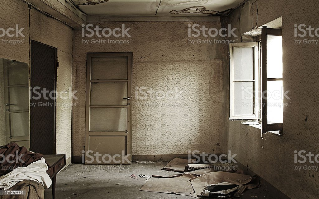 Abandoned Home Interiors royalty-free stock photo