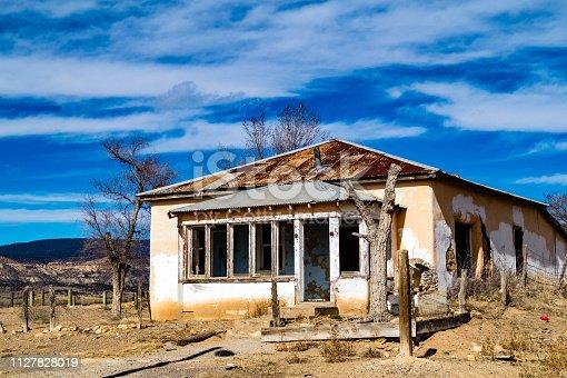 Abandoned home near Cubero, New Mexico in Cibola county