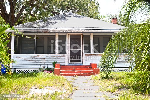 Abandoned house in southern Florida, victim of the real estate crash.