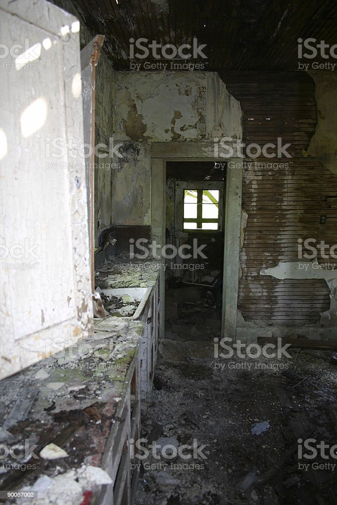 Abandoned home royalty-free stock photo